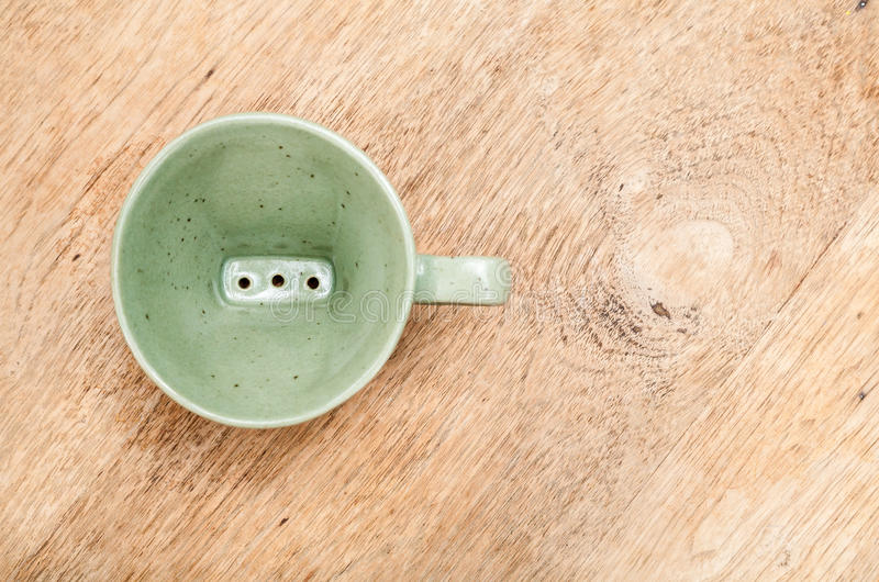 Dripper verde fotografia de stock