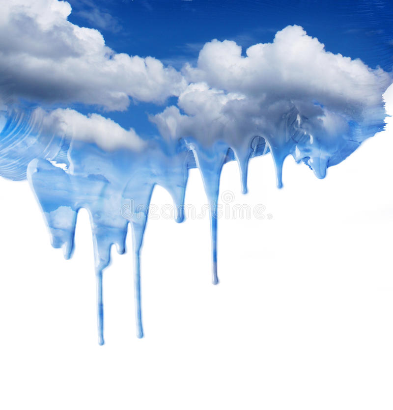 Download Dripping blue sky fantasy stock illustration. Illustration of splash - 25348258