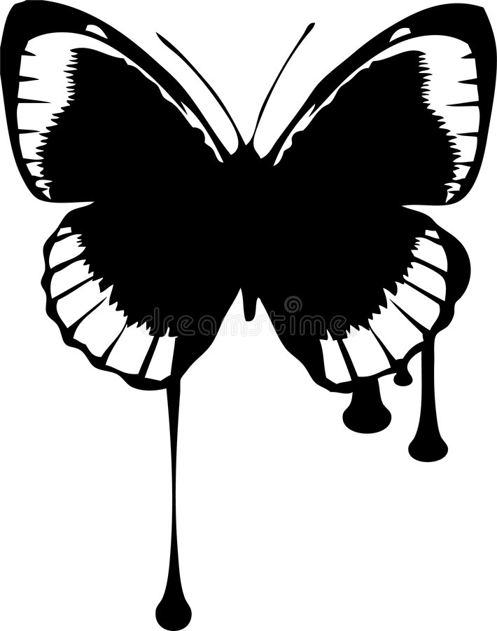 Dripping Butterfly Royalty Free Stock Images