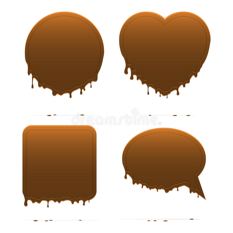 Dripping Chocolate Shapes Royalty Free Stock Images