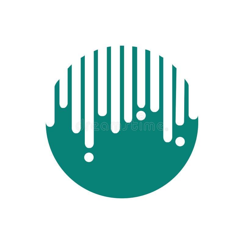 Dripping Circle Abstract Symbol stock illustration