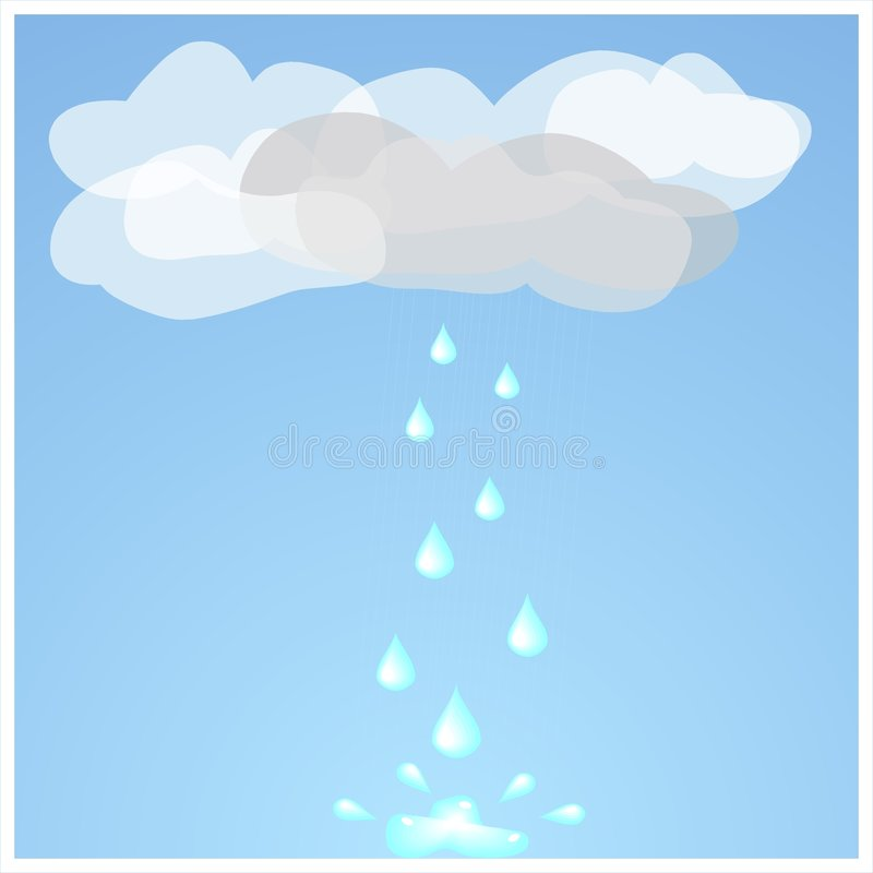 Dripping cloud stock illustration