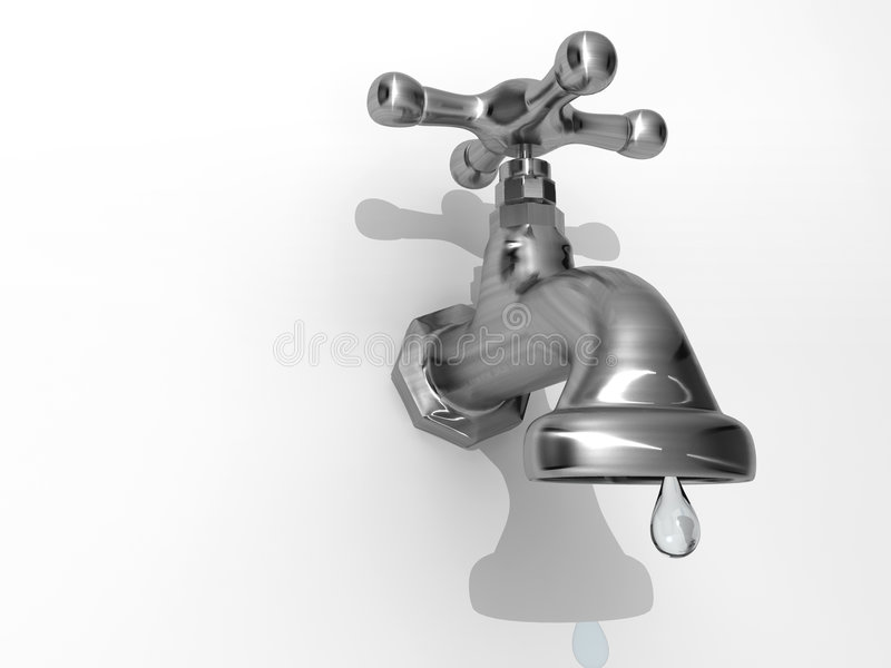 Dripping Faucet Royalty Free Stock Photography