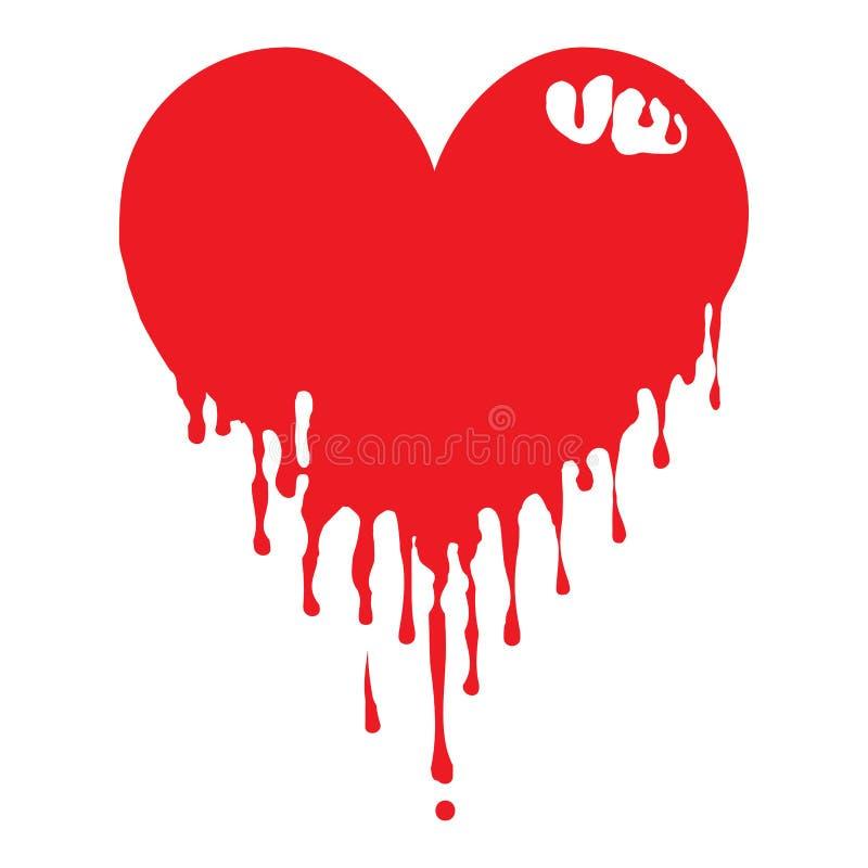 Dripping Heart stock illustration
