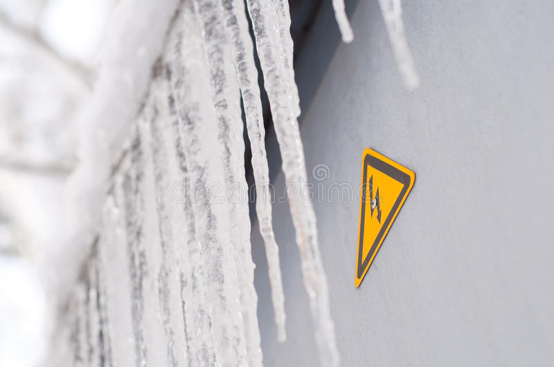 Download Dripping icicles stock photo. Image of droplet, iced - 12455828