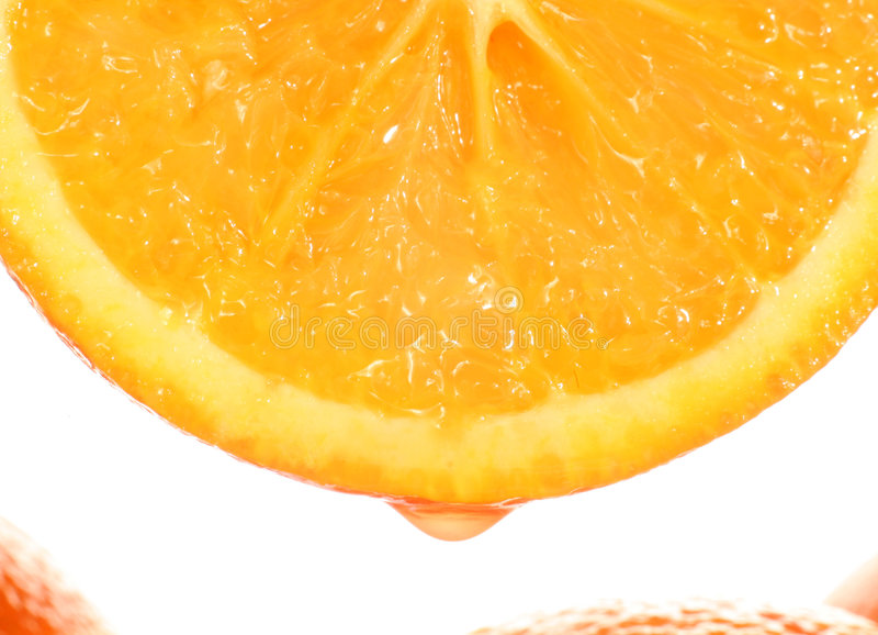 Dripping orange royalty free stock images