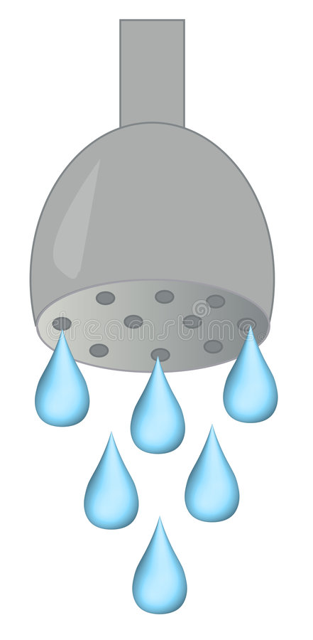 Dripping shower head stock vector. Illustration of drips - 4332517