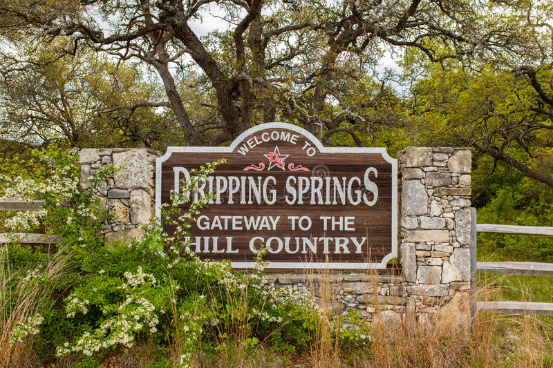 Dripping Springs il Texas immagine stock