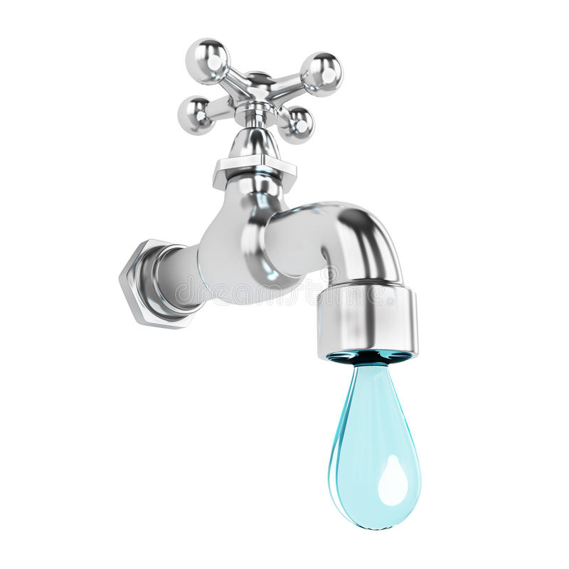 Download Dripping tap with drop stock illustration. Image of blue - 33839538