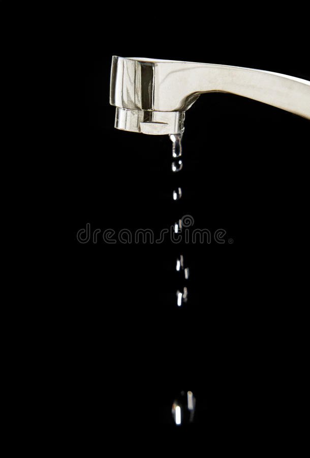 Dripping water stock image