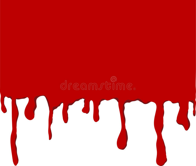 drippy κόκκινο χρώματος ελεύθερη απεικόνιση δικαιώματος