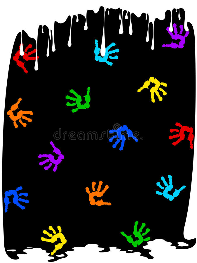 Download Drips Of Paint And Handprints Stock Vector - Image: 23601291