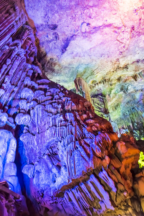 Dripstone cave (Reed flute cave) royalty free stock photos