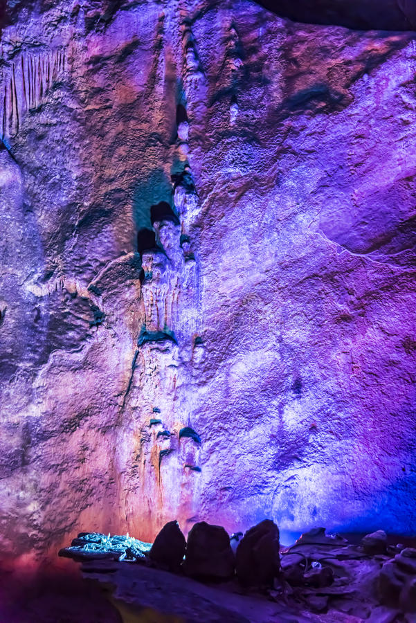 Dripstone cave (Reed flute cave) royalty free stock photography