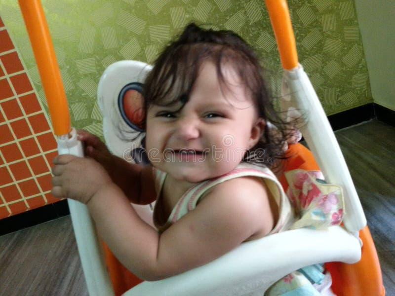 Drishti Teethy Pierwszy uśmiech fotografia royalty free