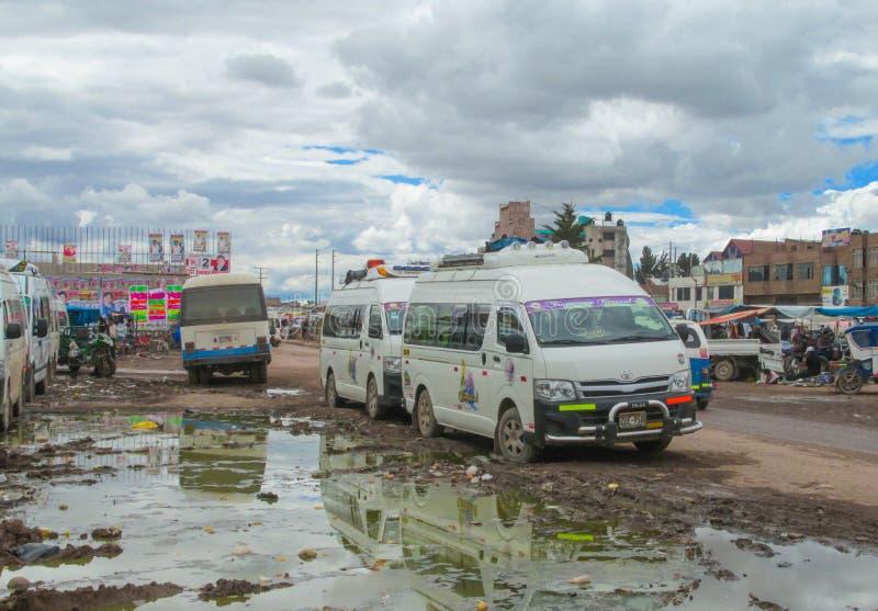 Drit en la calle en la ciudad de Perú imagen de archivo libre de regalías