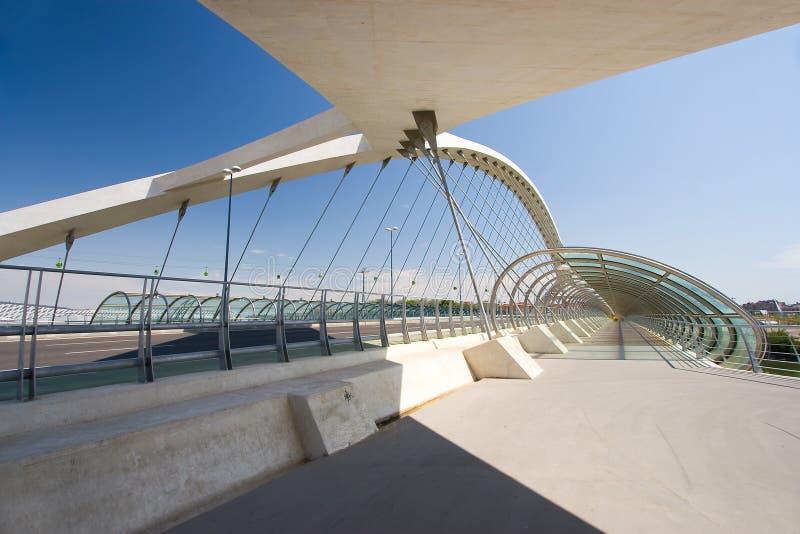 Dritte Jahrtausendbrücke, Saragossa stockbild