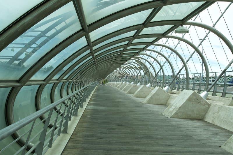 Dritte Jahrtausendbrücke, Saragossa stockfotos