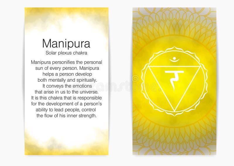 Drittens Solarplexus chakra - Manipura lizenzfreie stockbilder