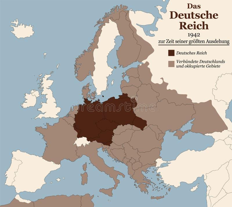 Dritter Reich Nazi Germany Greatest Extent German-Text stock abbildung