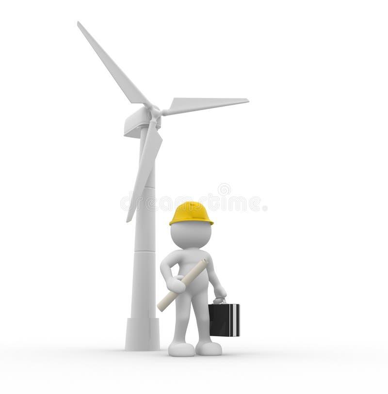 driv wind royaltyfri illustrationer