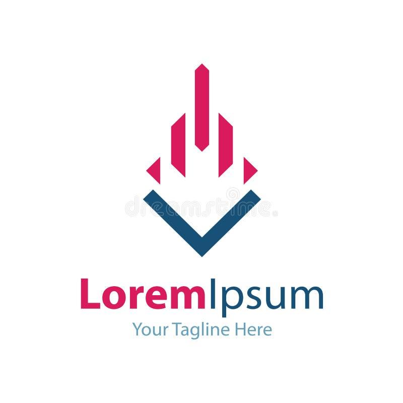 Driva för logokonturn för den företags designen beståndsdelar för symbolen för fastigheten enkla vektor illustrationer