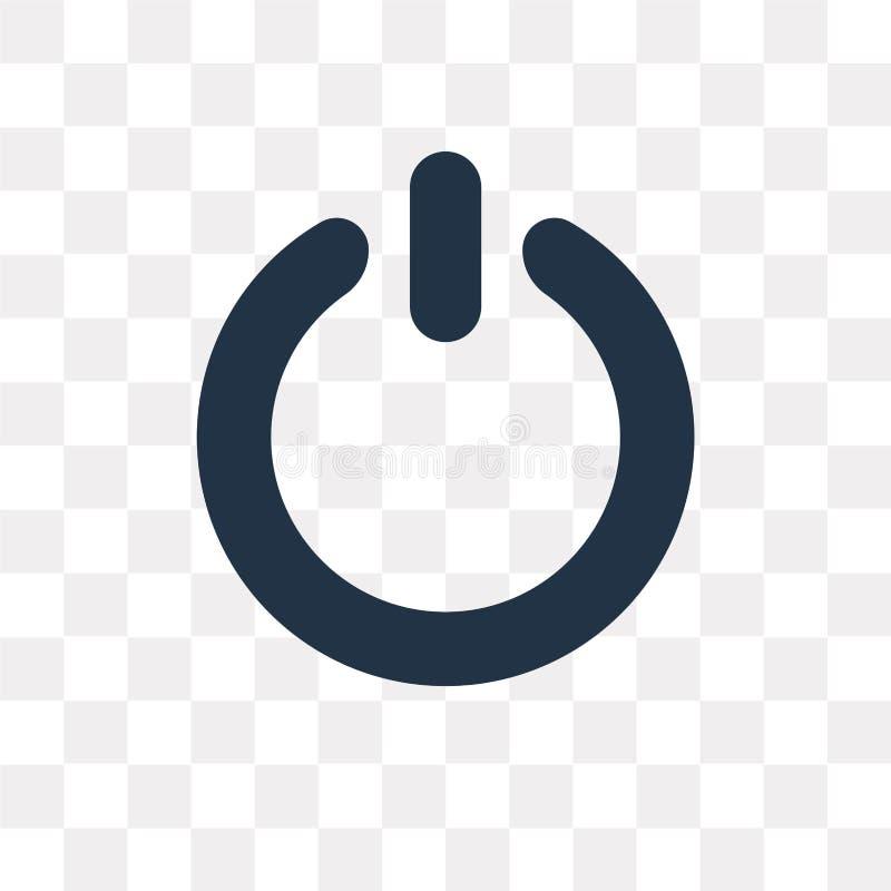 Driva knappvektorsymbolen som isoleras på genomskinlig bakgrund, Pow stock illustrationer