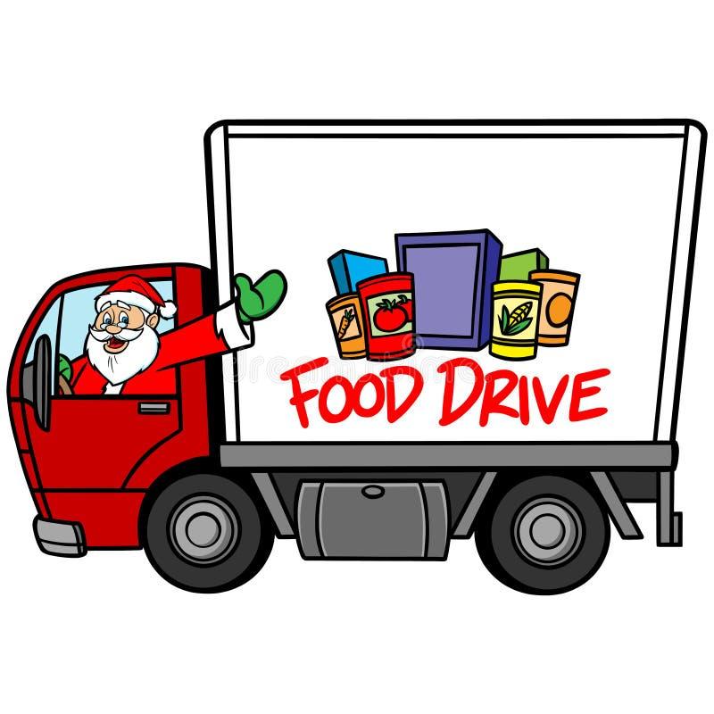 Drive τροφίμων Χριστουγέννων διανυσματική απεικόνιση