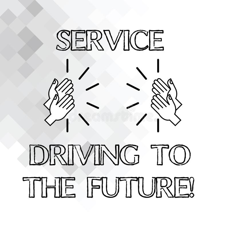 Drive υπηρεσιών γραψίματος κειμένων γραφής στο μέλλον Έννοια που σημαίνει τις σύγχρονες υπηρεσίες HU βοήθειας τεχνολογιών διανυσματική απεικόνιση
