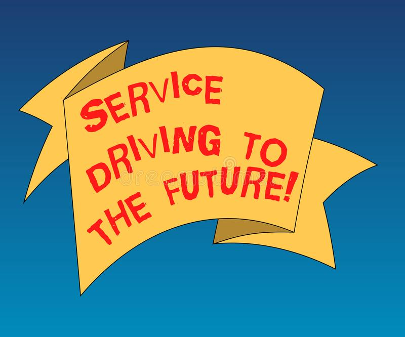 Drive υπηρεσιών γραψίματος κειμένων γραφής στο μέλλον Η έννοια που σημαίνει τις σύγχρονες υπηρεσίες βοήθειας τεχνολογιών δίπλωσε  απεικόνιση αποθεμάτων