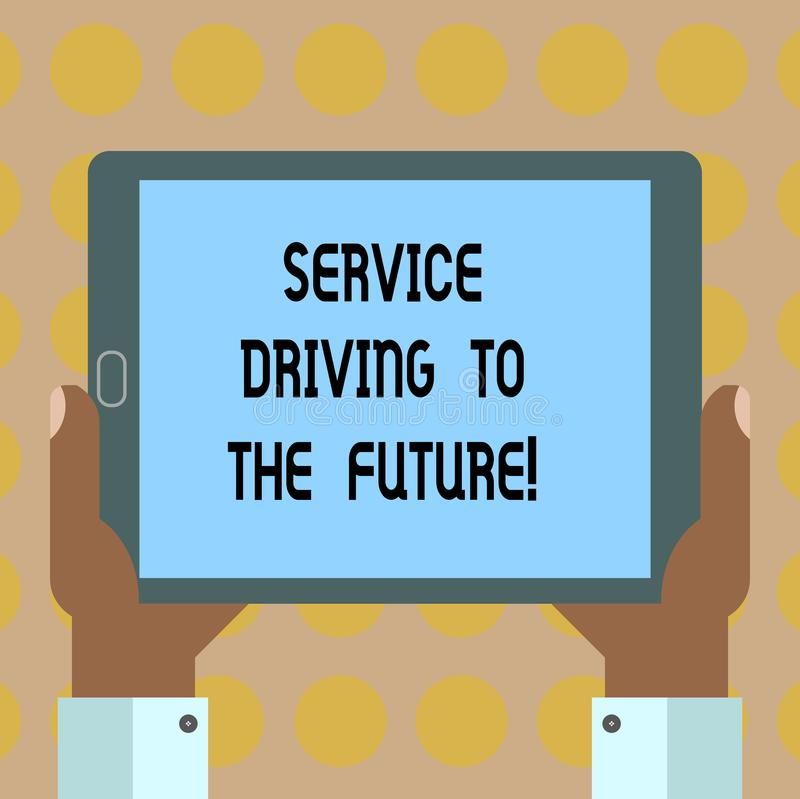 Drive υπηρεσιών κειμένων γραψίματος λέξης στο μέλλον Επιχειρησιακή έννοια για τις σύγχρονες υπηρεσίες HU βοήθειας τεχνολογιών διανυσματική απεικόνιση