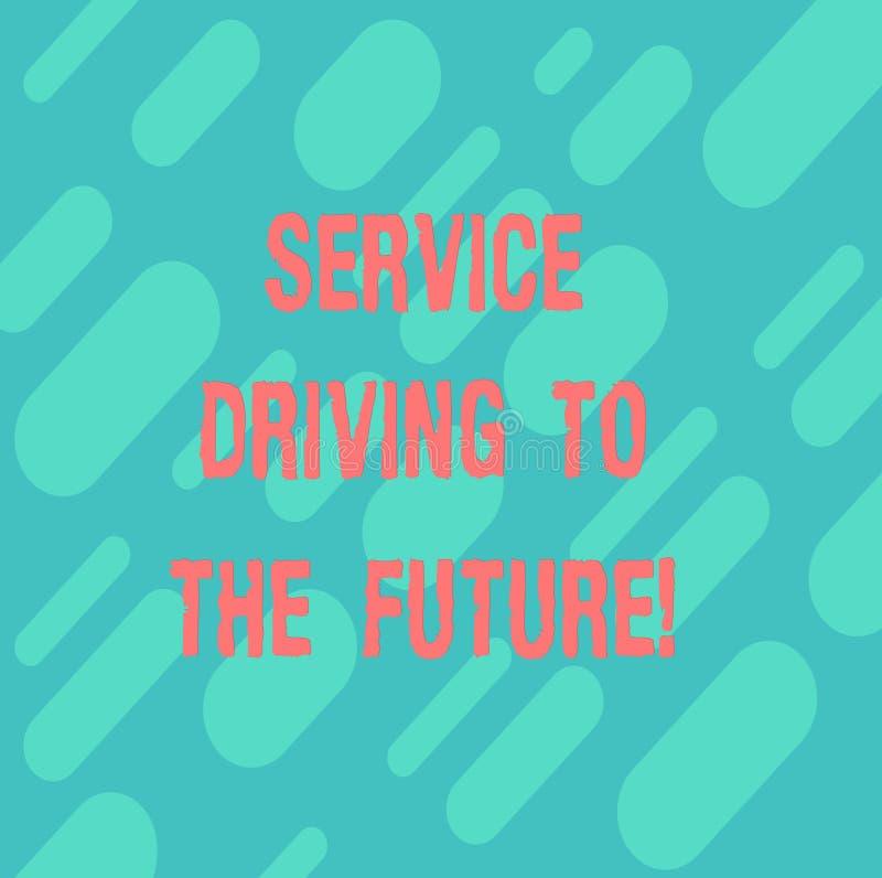 Drive υπηρεσιών κειμένων γραψίματος λέξης στο μέλλον Επιχειρησιακή έννοια για τη σύγχρονη διαγώνιος υπηρεσιών βοήθειας τεχνολογιώ ελεύθερη απεικόνιση δικαιώματος