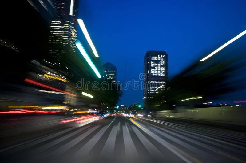 Drive. An image of Japanese road at night royalty free stock photography