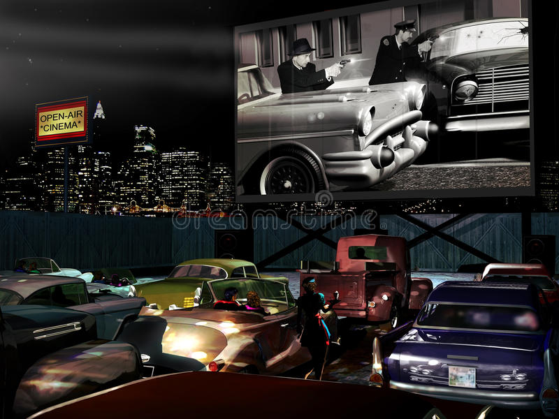 Download Drive-in stock illustration. Image of graffiti, buick - 23523727