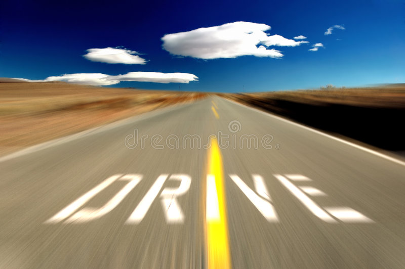 Download Drive the Desert stock image. Image of open, nevada, deserted - 4928797