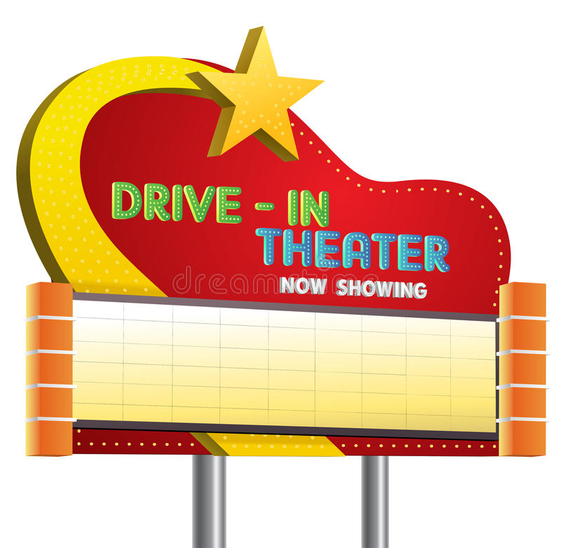 Free Drive In Theater Sign Banner Royalty Free Stock Photos - 63530208