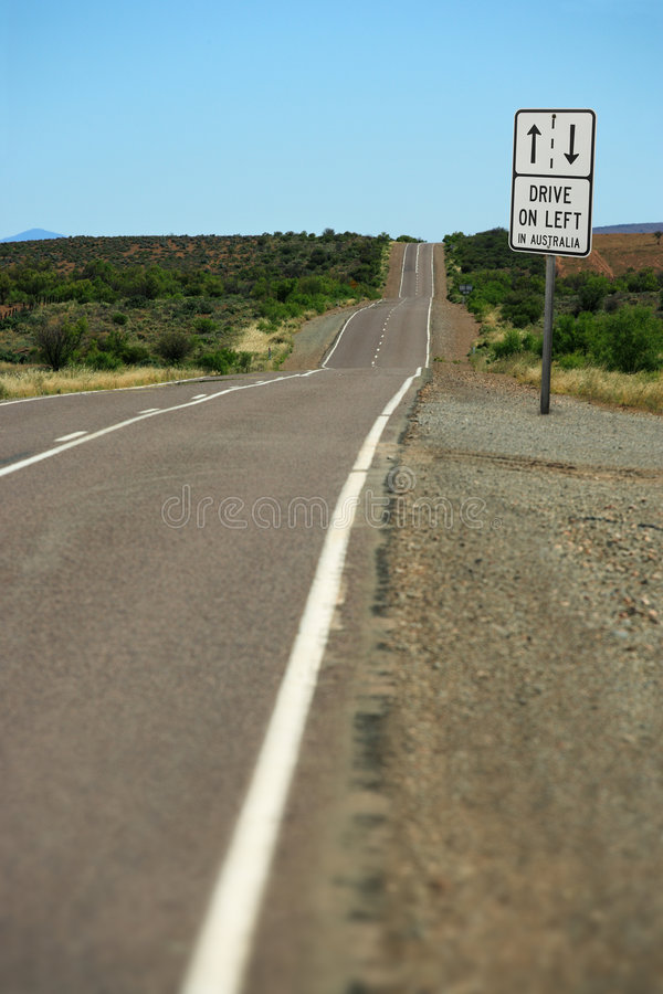 Drive on left in Australia royalty free stock photo