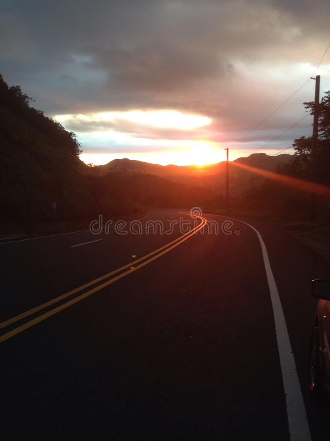 Drive into the light royalty free stock image