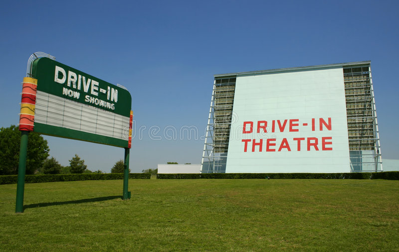 Drive-in movie sign royalty free stock photography