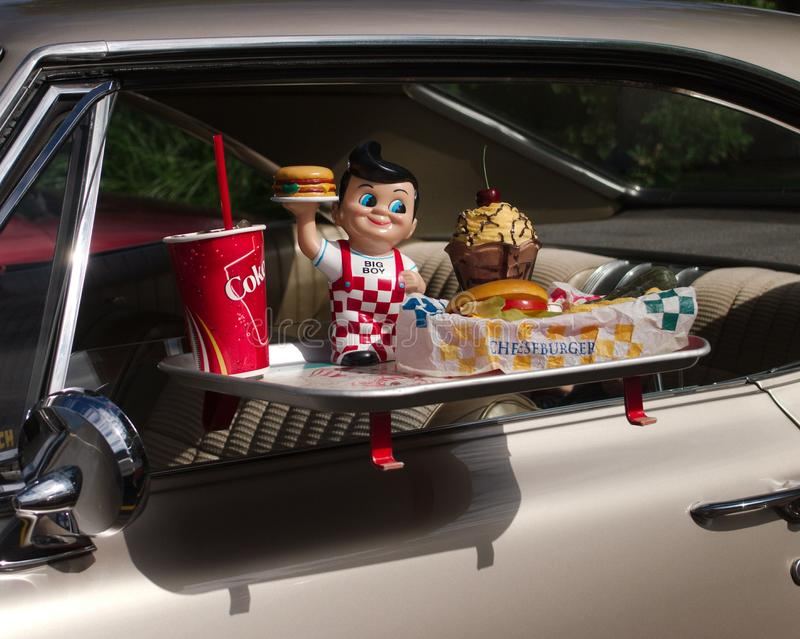 Drive-In Restaurant stock images