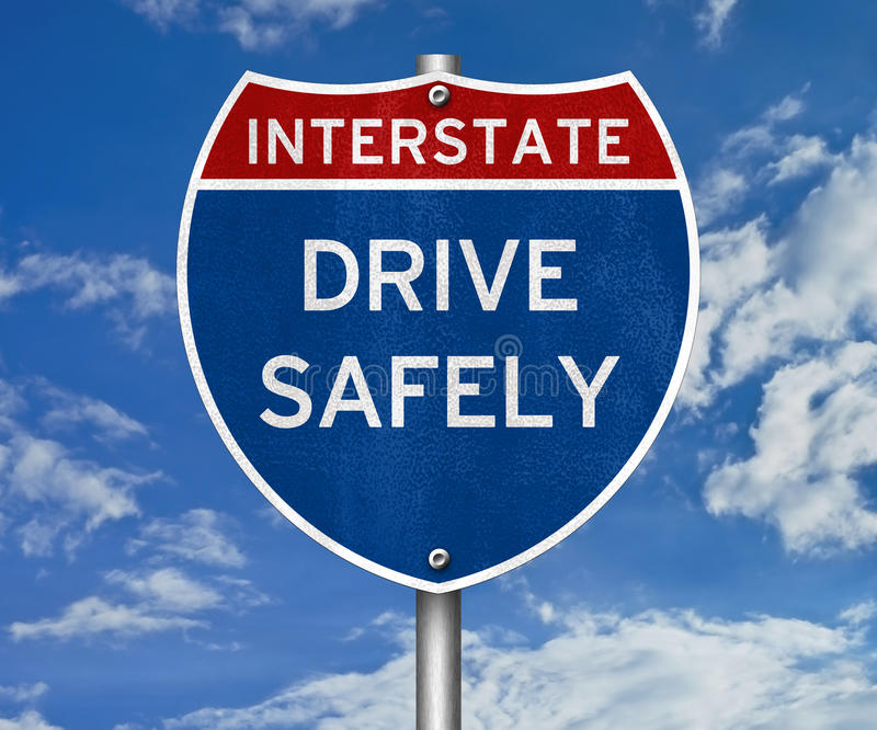 Drive Safely royalty free stock photo