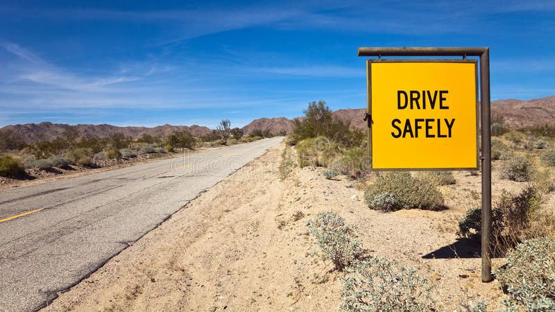 Drive Safely Sign royalty free stock photo