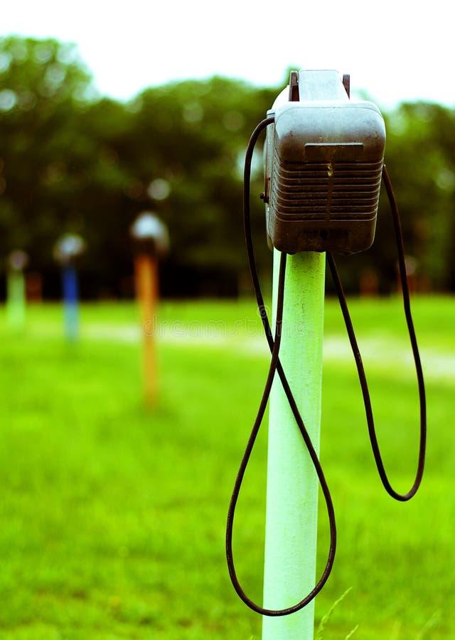 Drive-In Speaker stock photo