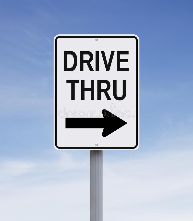 Drive Thru stock image
