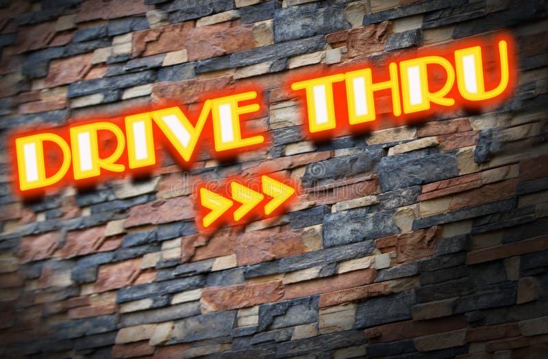 Drive thru neons royalty free stock photography