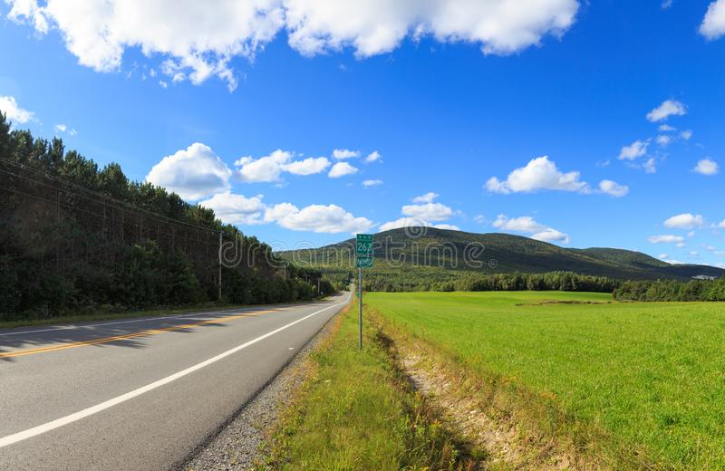Drive the Route de sommets. Drive to the summit, scenic drive in Quebec royalty free stock images