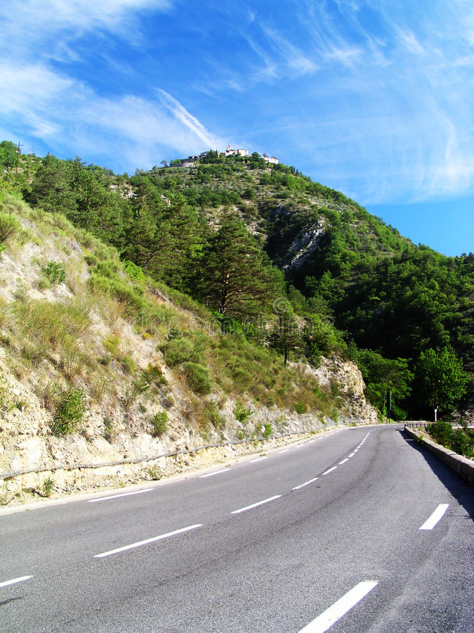 The drive is waiting. Some path in France - Provence royalty free stock photos