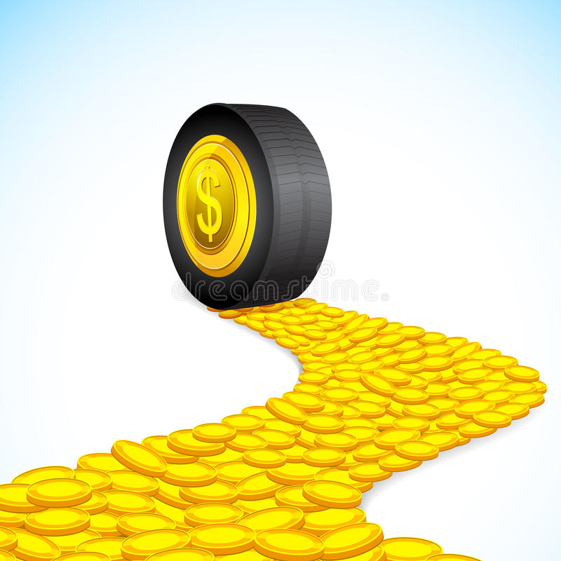 Drive of Wealth royalty free illustration