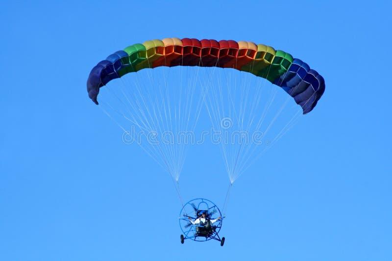 driven paraglider royaltyfri bild
