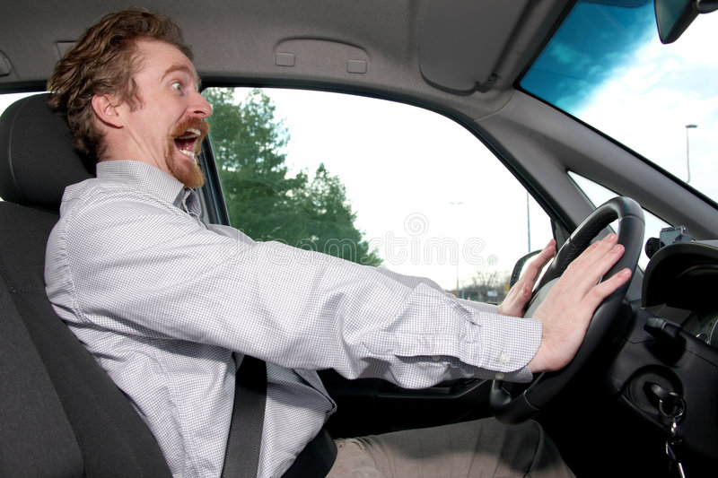 Driver. Moment away from accident royalty free stock photos
